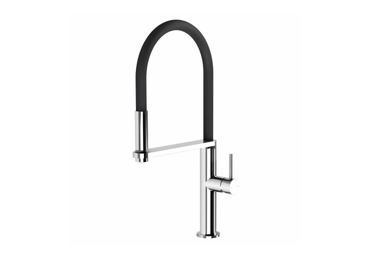 Blix Flexible Hose Sink Mixer Round