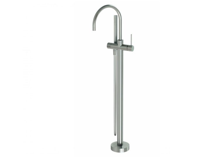 Vivid Slimline Floor Mounted Bath Mixer with Hand Shower