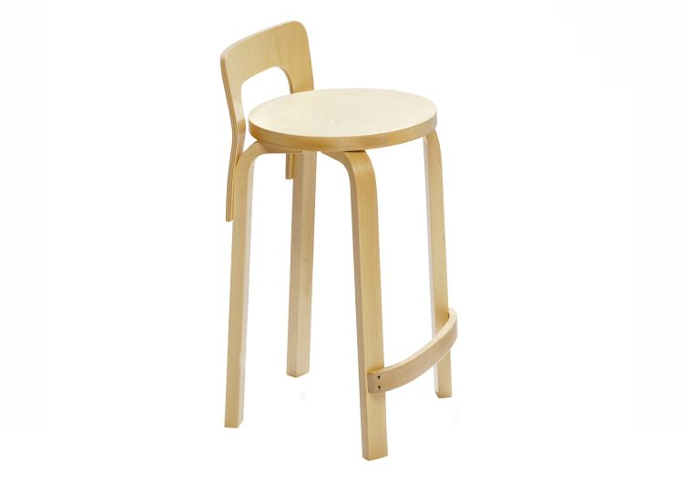 Artek Birch Veneer High Chair K65