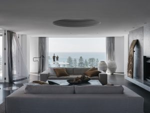Living   Palm Beach Home Living Room by CM Studio