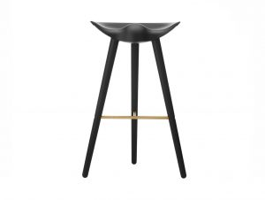 By Lassen ML42 Barstool (Black Stained Beech & Brass)