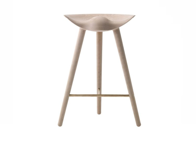By Lassen ML42 Barstool (Oak & Brass)