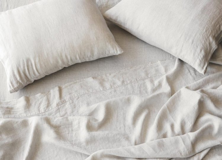 The Citizenry Stonewashed Linen Sheet Set (Sand Stripe)