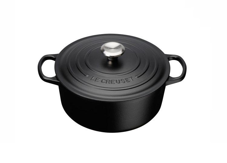 Le Creuset Cast Iron Round Casserole (Satin Black)