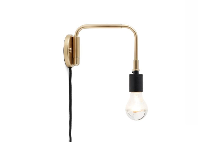 Menu Brass Tribeca Staple Wall Lamp