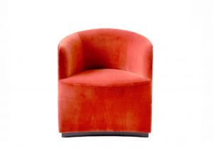 Menu City Velvet Tearoom Club Chair