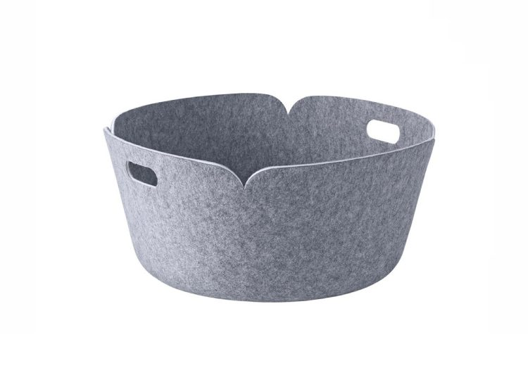 Muuto Grey Round Restore Basket