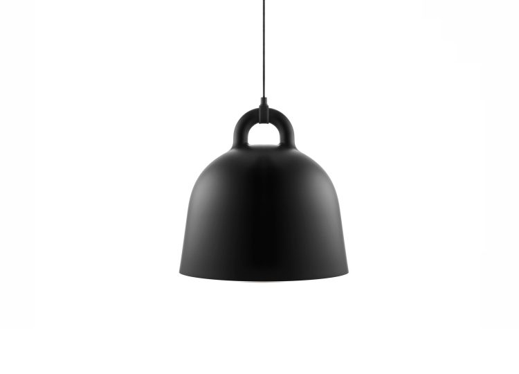 est living normann copenhagen medium black bell pendant 01 750x540