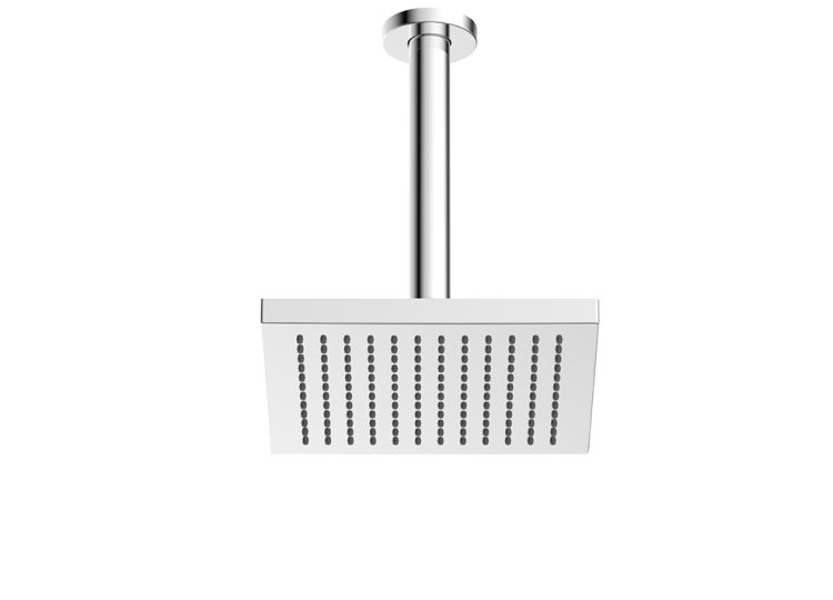 Gareth Ashton ABS 200mm Square Shower Head with 200mm Ceiling Dropper