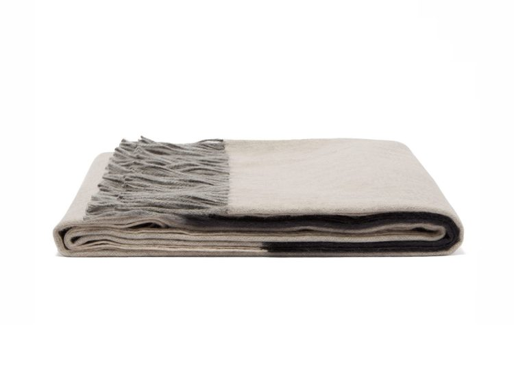Begg & Co Arran Borderland Cashmere Throw (Oyster)