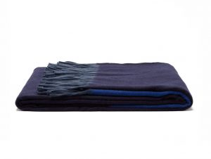 Begg & Co Arran Borderland Cashmere Throw (Navy)