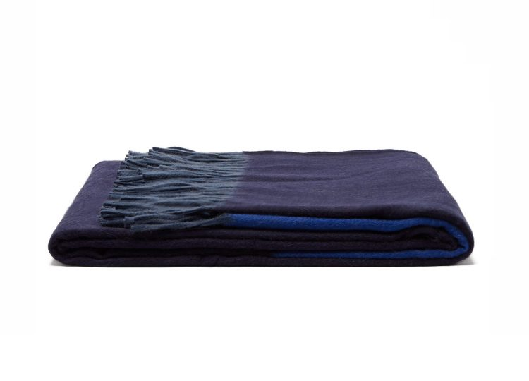 est living begg co arran borderland cashmere throw navy 01 750x540