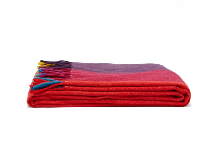 Begg & Co Festival Lambswool Angora Throw Multi