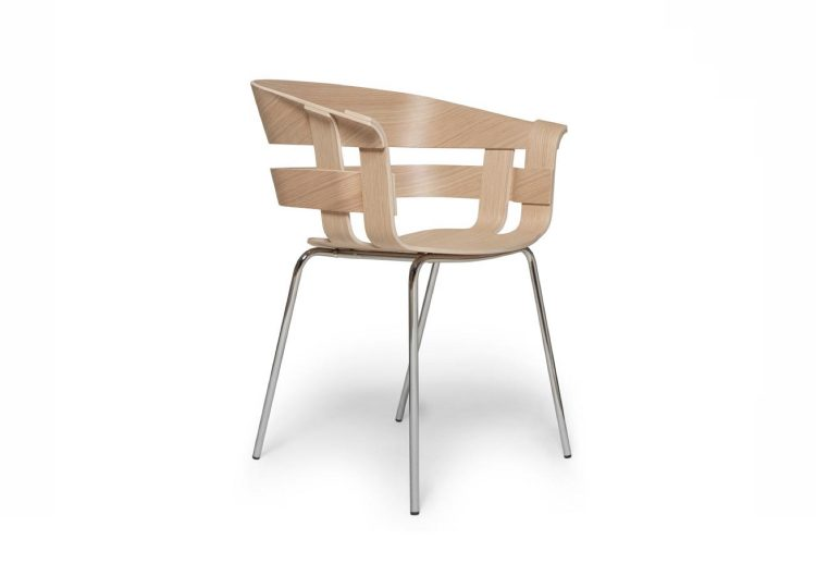 Design House Stockholm Wick Chair (Oak with Chrome Legs)