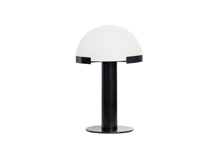Alabaster Matt Black Table Lamp