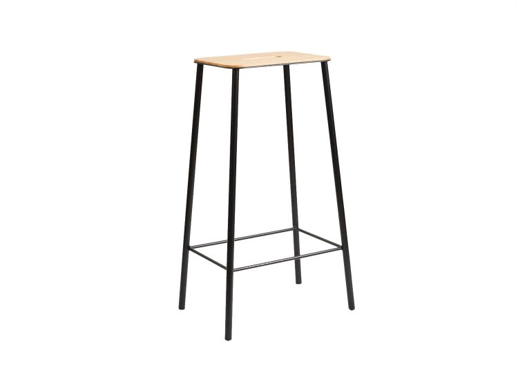 Frama Adam Stool (Oak / Black H76)