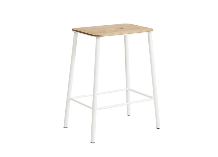 est living frama adam stool oak matt white h50 01 750x540