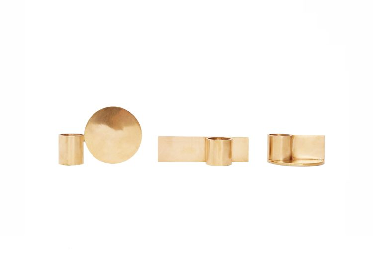 Frama Fundament Candle Holders (Brass)