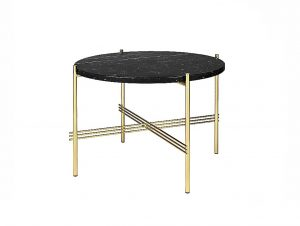 Gubi TS Coffee Table 22inch (Black Marquina Marble/Brass Base)