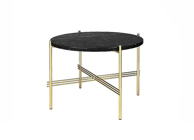 GUBI TS Coffee Table (Black Marquina Marble/Brass Base)