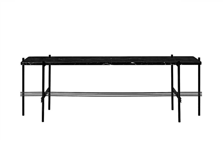 Gubi TS Console 1 Rack (Black Marquina Marble/Black Base)