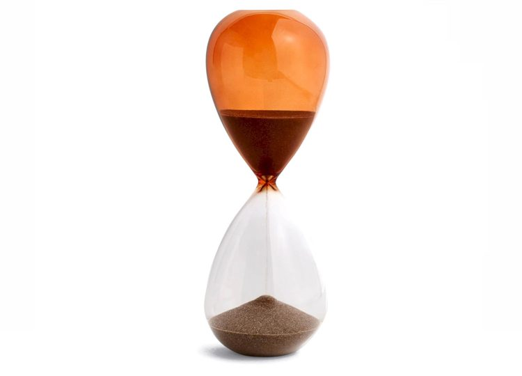 Hay Time Hourglass (Burnt Orange)