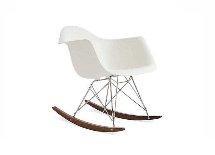 Herman Miller Eames Molded Plastic Armchair (Rocker Base)