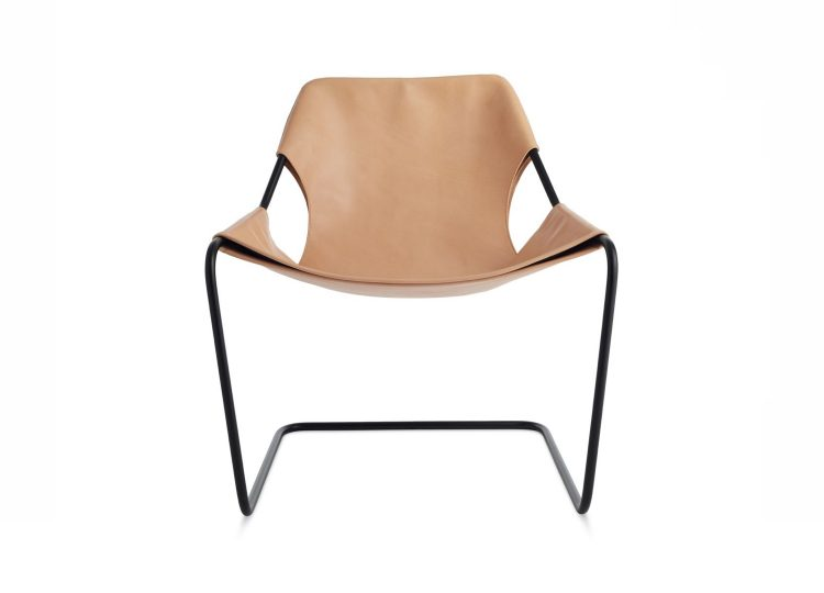 Objekto Paulistano Armchair (Black Frame/Natural Leather)