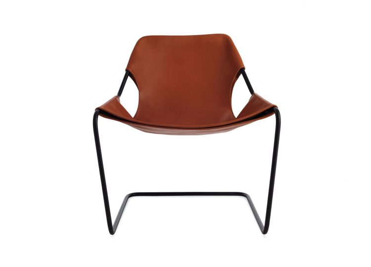 Objekto Paulistano Armchair (Black Frame/Terracotta Leather)