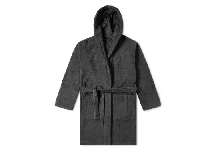 Tekla Ash Black Bathrobe