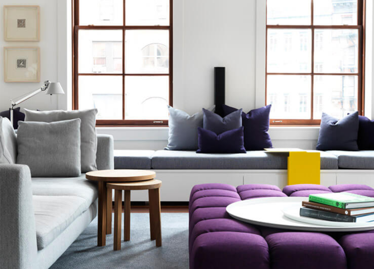 Living | Tribeca Loft Apartment Living Room by Nexus Designs