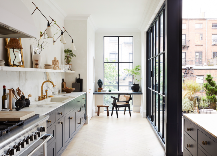 Kitchen | Cobble Hill Townhouse Kitchen by Elizabeth Roberts Architects