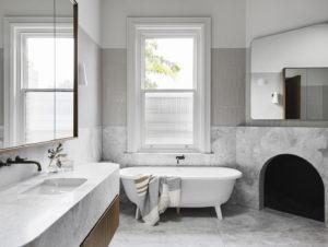 Bathroom 1 | Armadale Residence by Pleysier Perkins and Sanders & King
