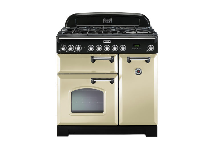 Falcon Classic 90cm Dual Fuel Range Cooker (Cream & Chrome)