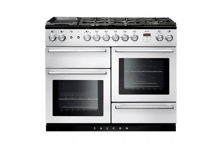 Falcon Nexus SE 110cm Dual Fuel Range Cooker (White & Chrome)