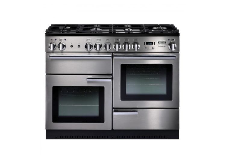 Falcon Professional+ 110cm Dual Fuel Range Cooker (Stainless Steel & Chrome)