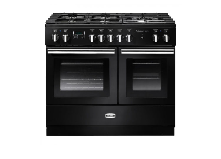 est living falcon professional fx 100cm dual fuel range cooker black chrome 750x540