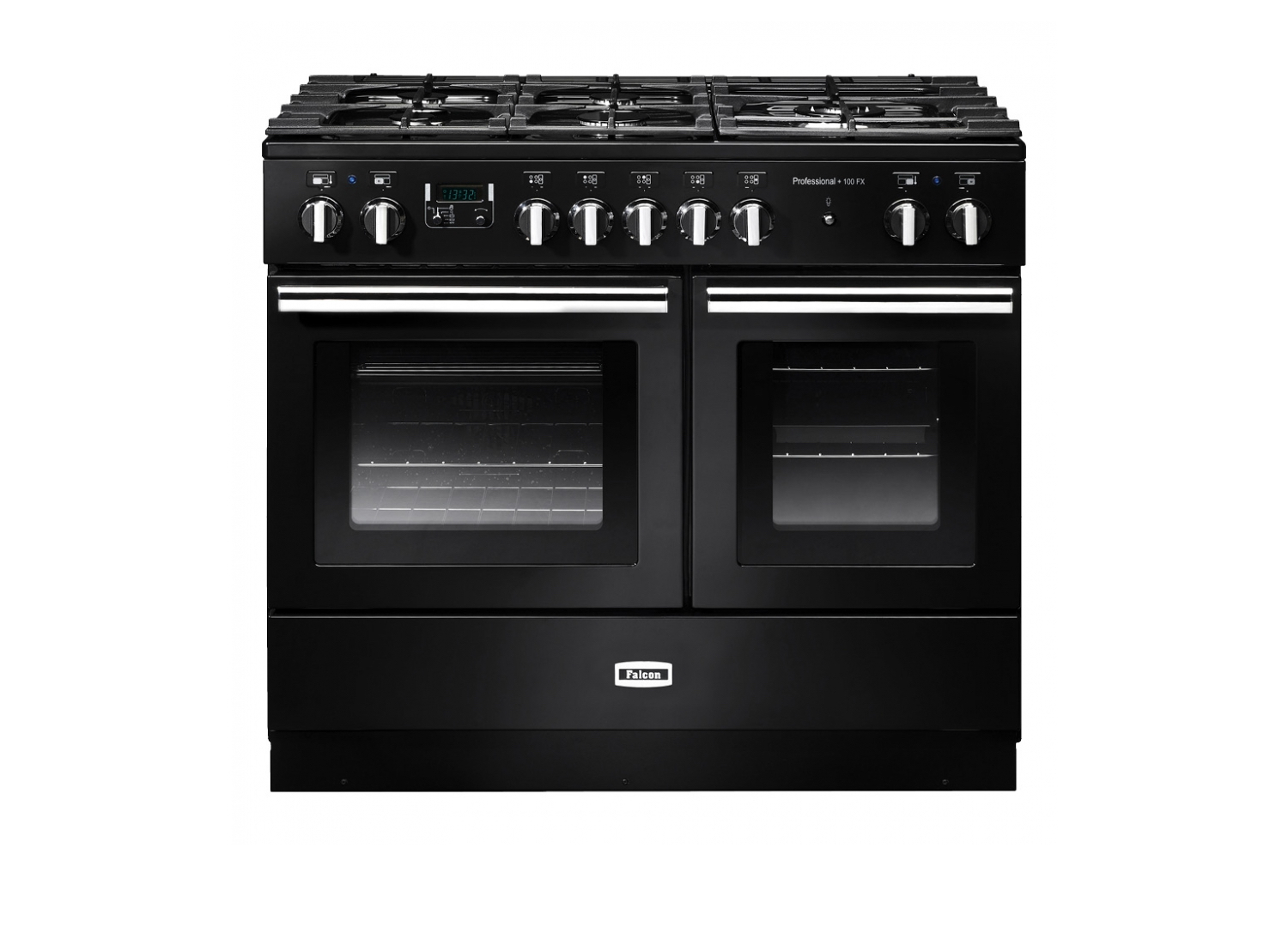 est living falcon professional fx 100cm dual fuel range cooker black chrome