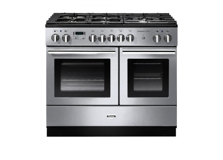 est living falcon professional fx 100cm dual fuel range cooker stainless steel chrome 750x540