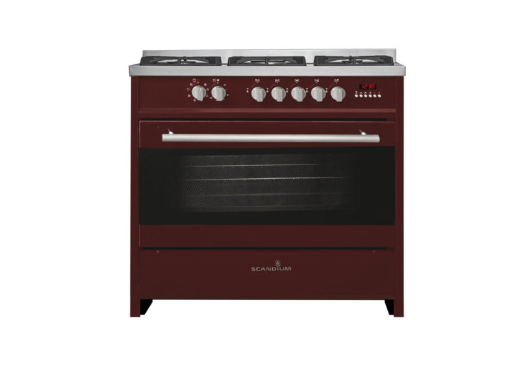 Scandium Upright Gas-Electric Cooker (Burgundy)