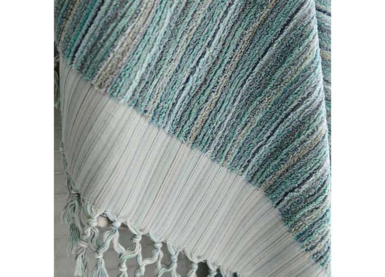 Loom Ocean Stripe Bath Towel