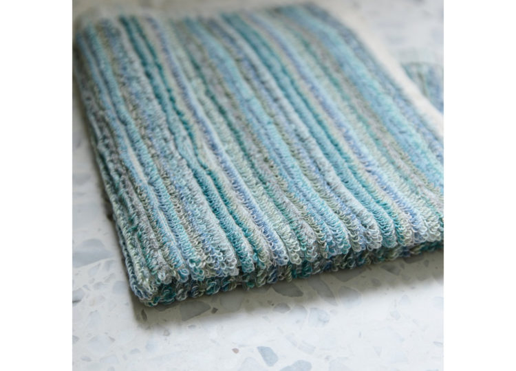 Loom Ocean Stripe Face Towel