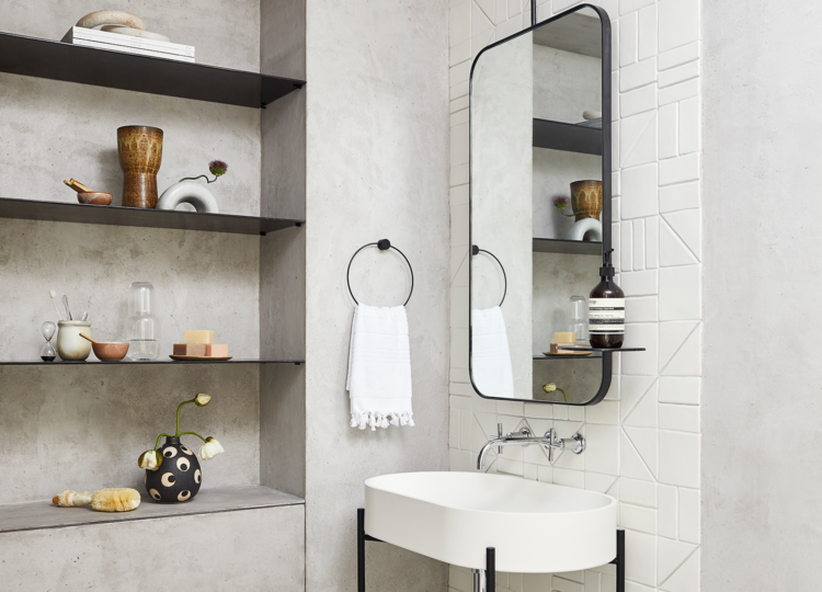 Bathroom | Soho Loft Bathroom by Tina Rich Design