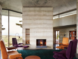 Living | Remote English Retreat Living Room by Peter Zumthor's