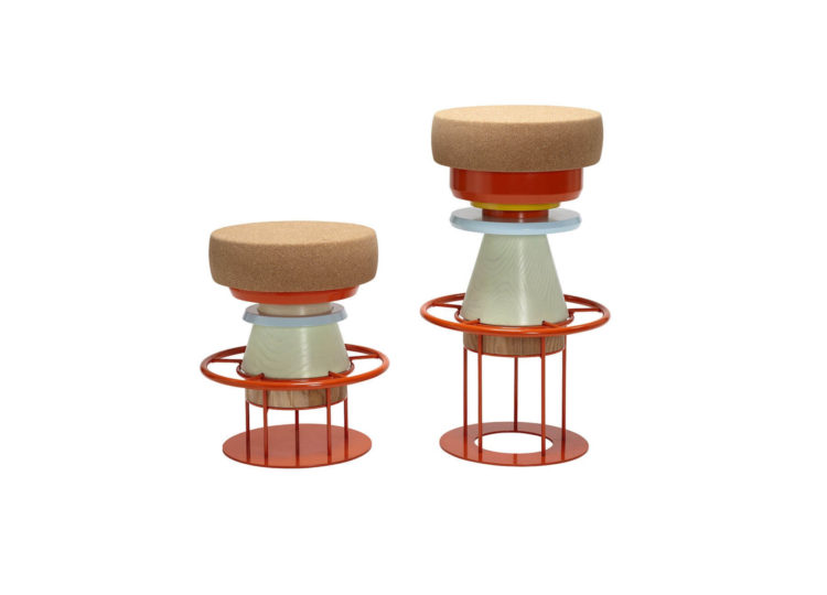 La Chance Tembo Stool (Multicolour)