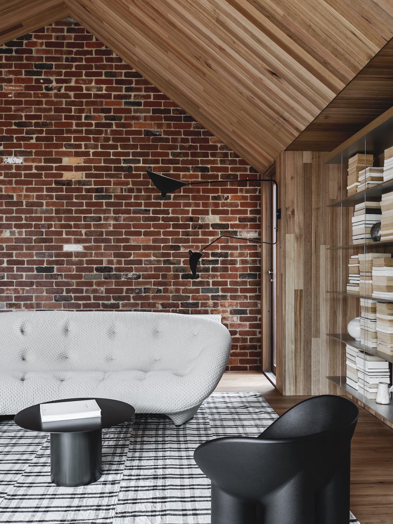 red interior design northcote