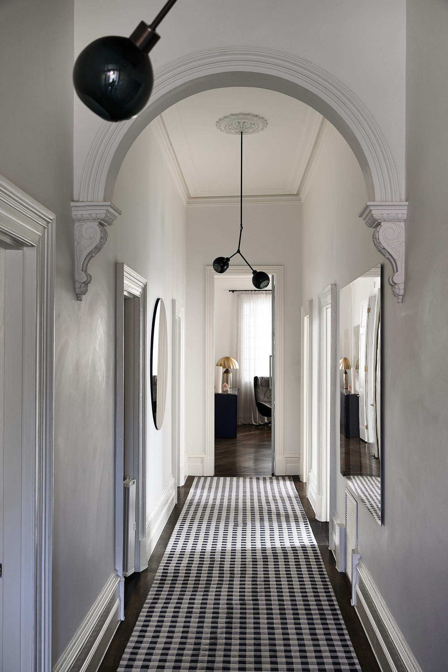 Canterbury by Nina Provan est living hallway