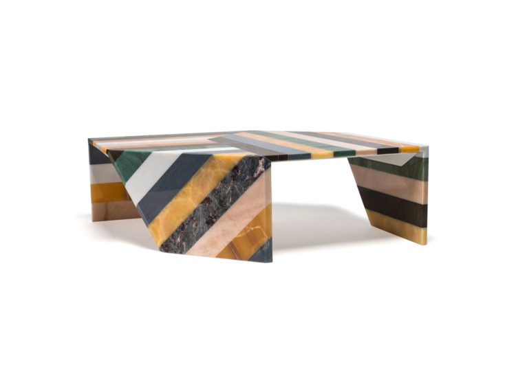 Budri Origami Marble Living Table