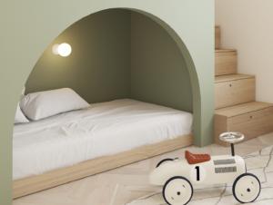 Kids | Copenhagen Apartment Kids Bedroom by Emil Dervish
