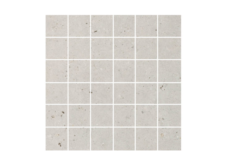 Silver Grain Grey Mosaic